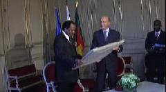 R�ception de Paul Biya � Bordeaux