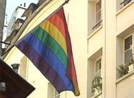 Drapeau homosexuel en berne