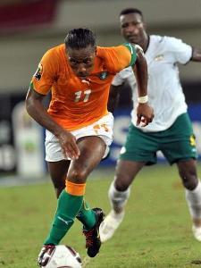 Didier Drogba et ses co�quipiers ont but� sur le Burkina Faso