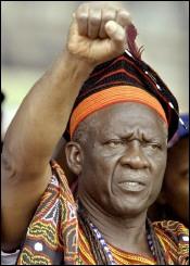John Fru Ndi, principal leader de l'opposition camerounaise