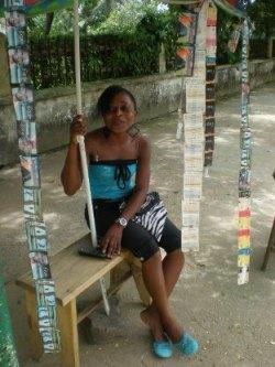Anne-Marie Ngombi travaile depuis presque huit ans
